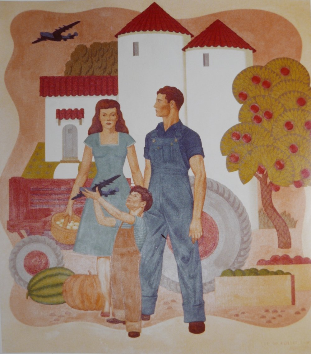 - Modern day California depicting agriculture development and arrival of the aviation industries.