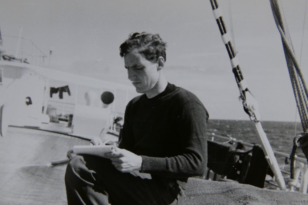Sketching on deck, 1939
