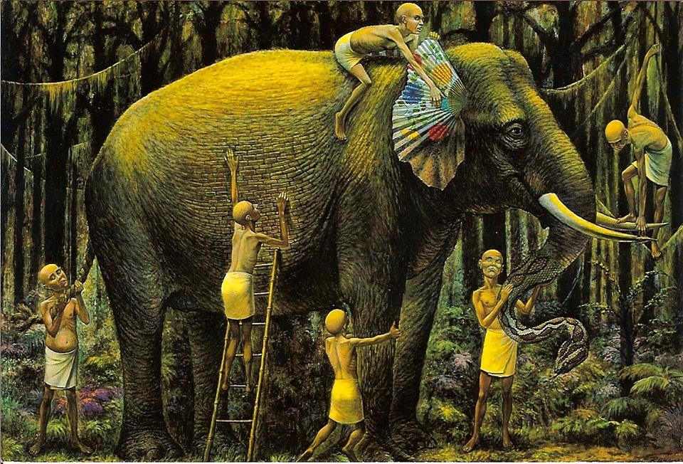"""""""The Blind Men and The Elephant"""" c. 1972-1984"""