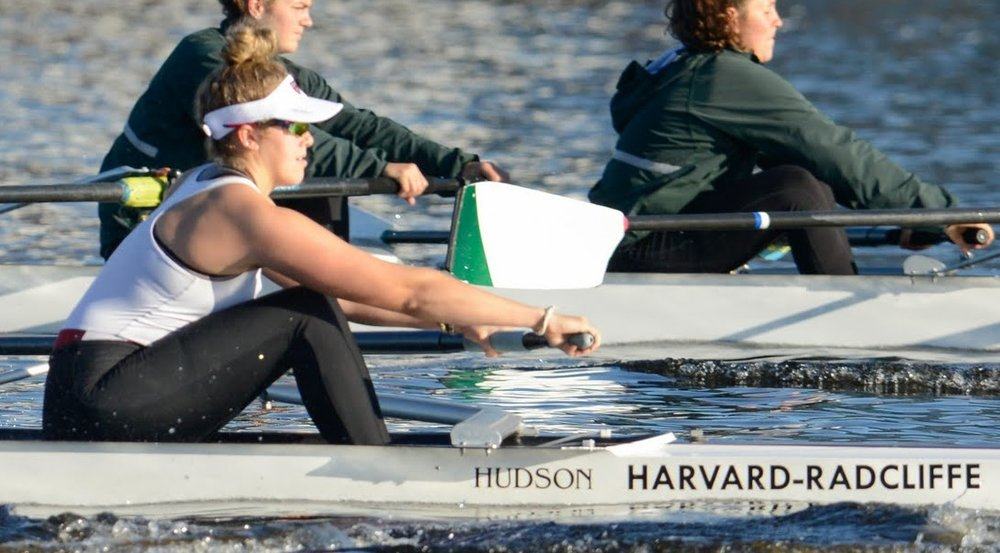 Liz Roe racing for Harvard-Radcliffe Spring 2017