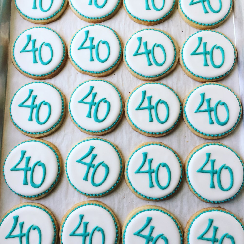 40th birthday party favors