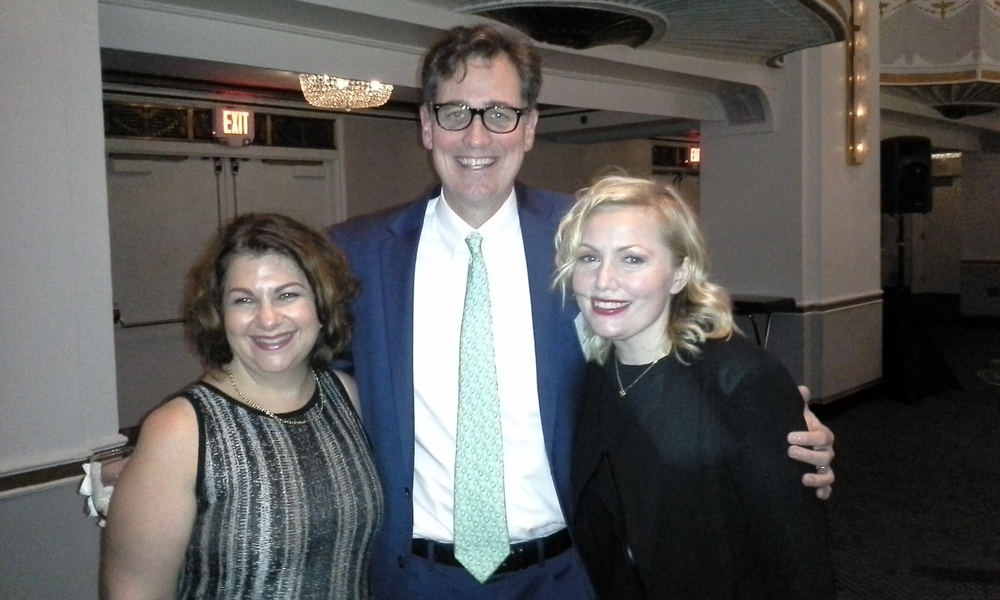 Sally with her nurse practioner Theresa McDonnell and Dr David Ryan, MGHCC Clincal Director, at the Friends of MGHCC Couture for Cancer Care Fashion Show