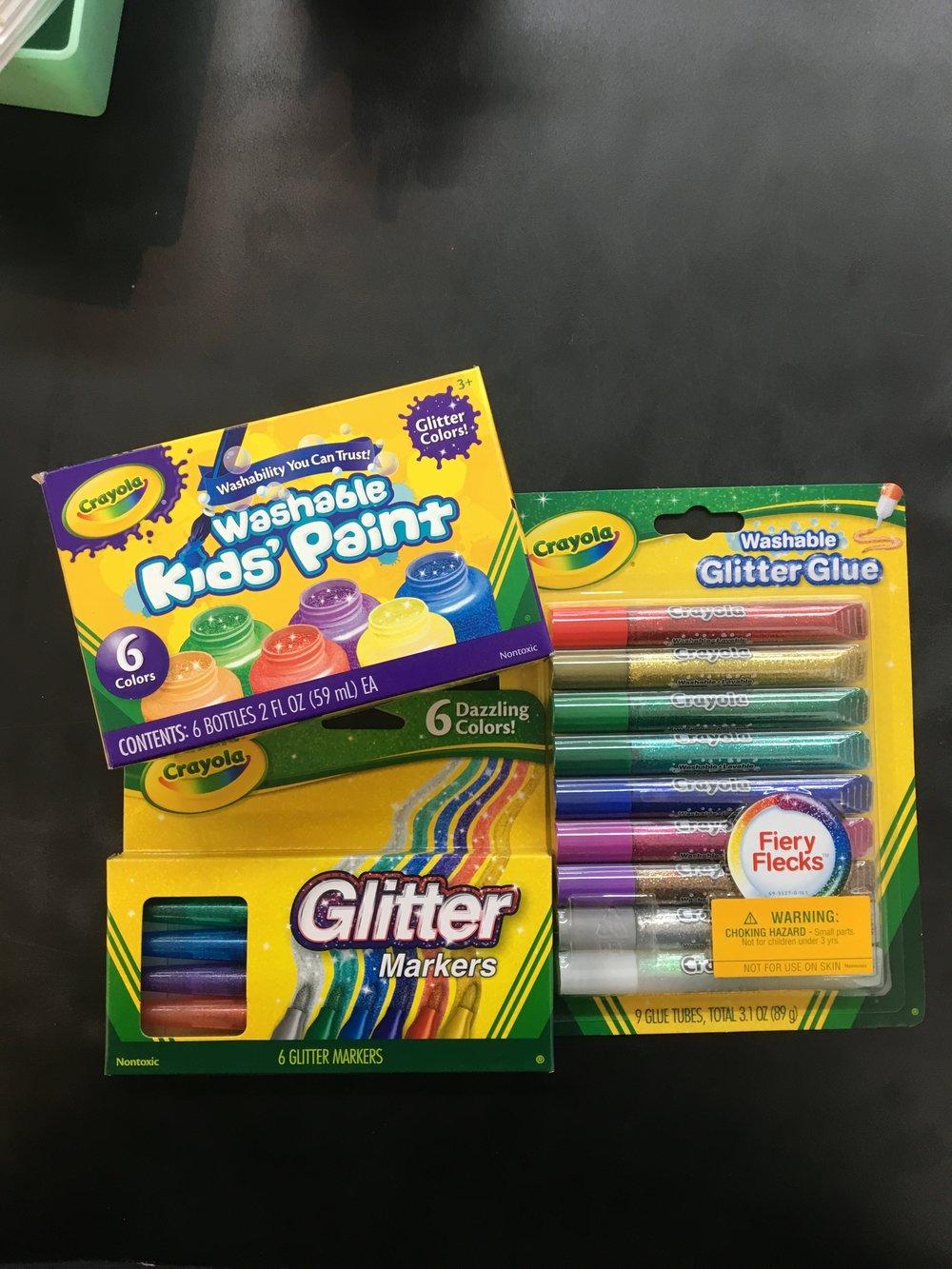 2. Mess Free Glitter