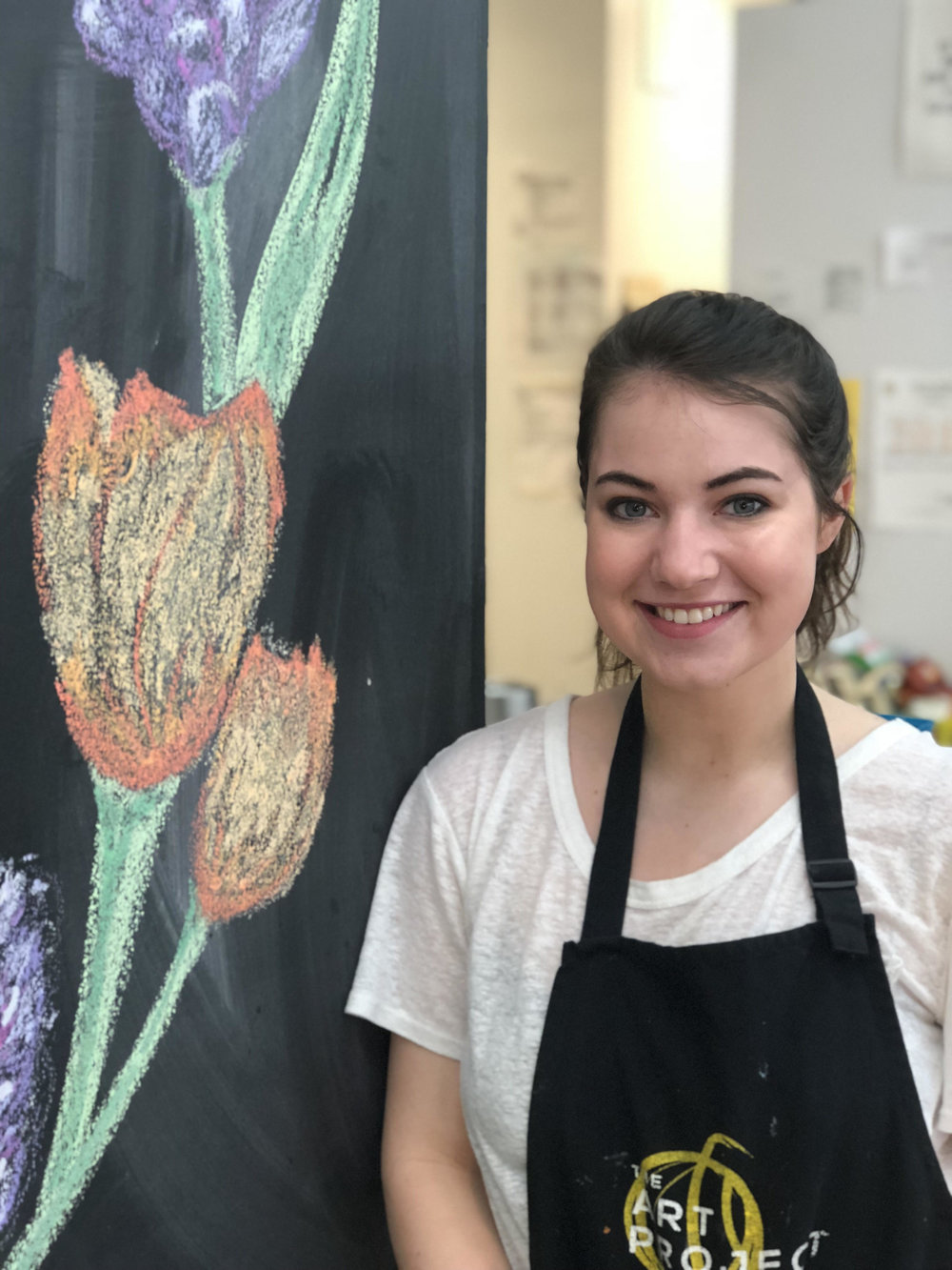 Clara McDonald   This is Clara McDonald! She is 20 years old and just moved back to Memphis to attend college as a sophomore. Clara is majoring in Literary Publishing and New Media, but she enjoys art as a constant presence in her life. She says collage art therapy is her favorite way to relax, but that painting is a close second.