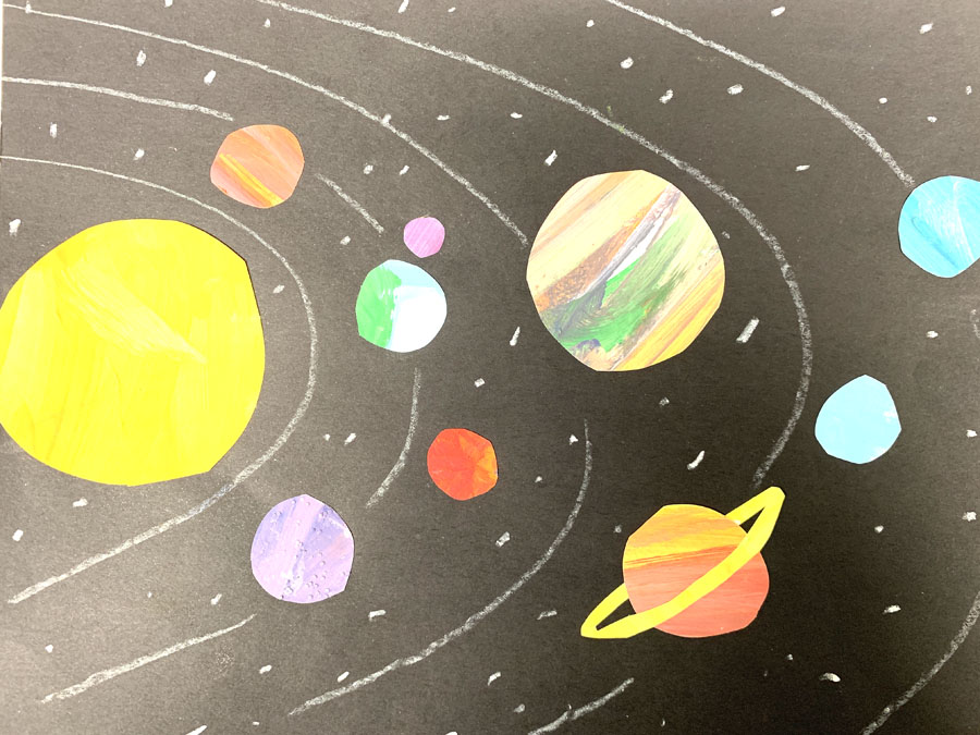 Solar System Collage. By The Art Project