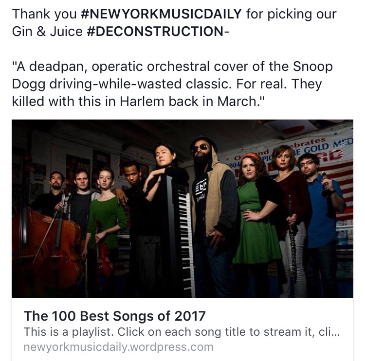 Thank you NY Music Daily! Check it out  here (scroll down) .