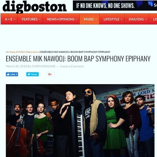 """With machete-sharp vocalists fronting a miniature orchestra tuned by a maestro with a passion for boom bap, they represent a distinct future for the genre that diehards of all stripes should be thoroughly excited for.""  -  DigBoston"