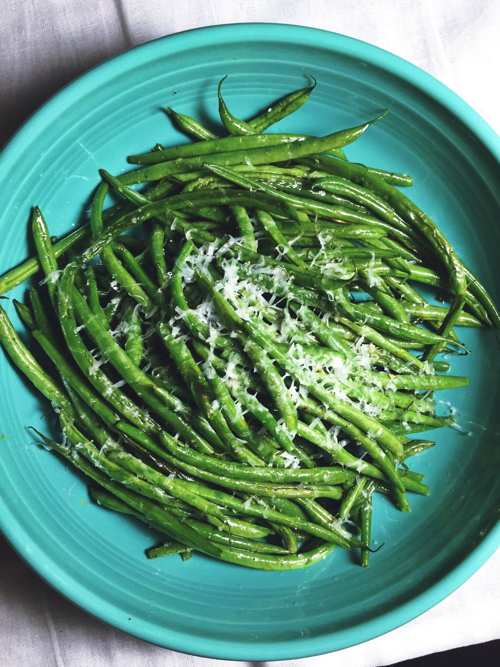 Roasted Lemon & Parmesan Green Beans