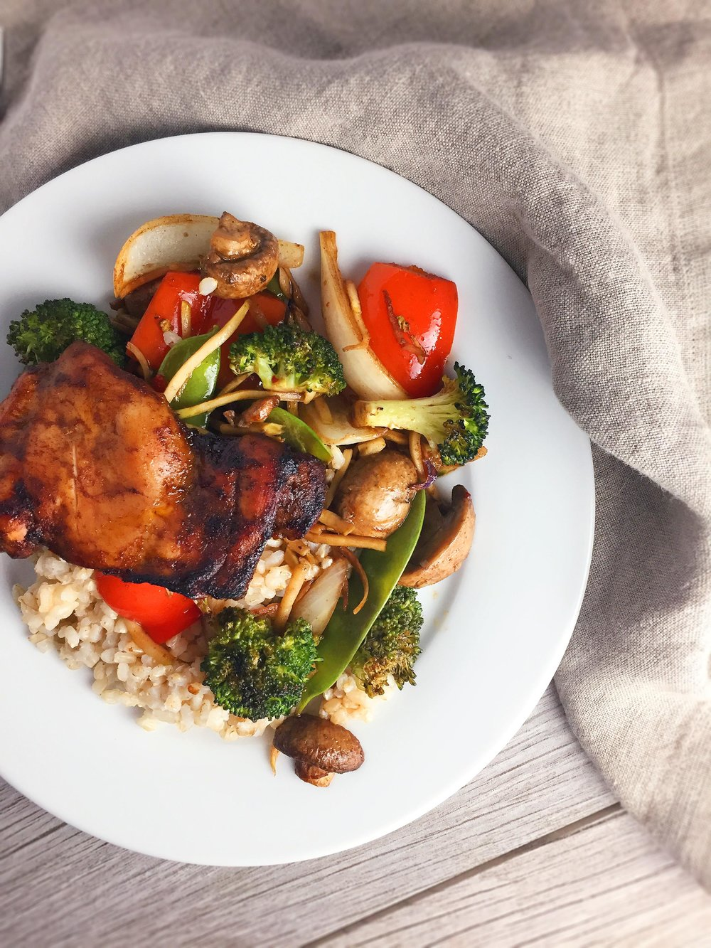 Sheet Pan Sweet Spiced Chicken Thighs & Vegetables