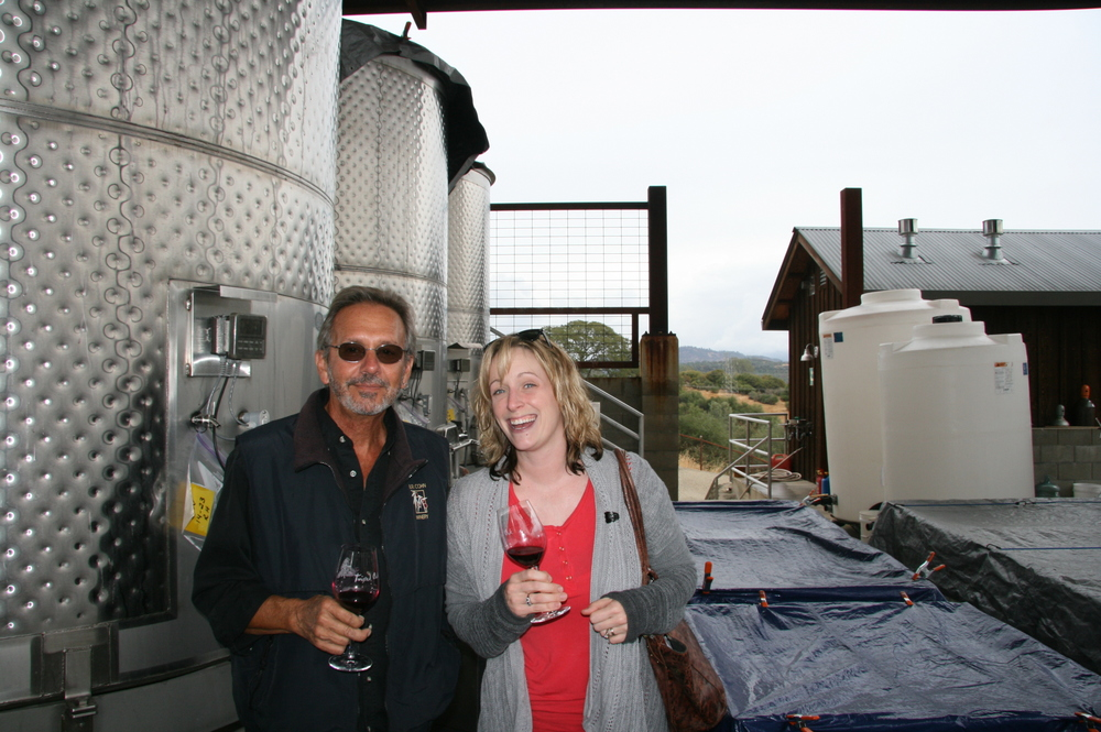 Claire and Winemaker, Mark Kunz