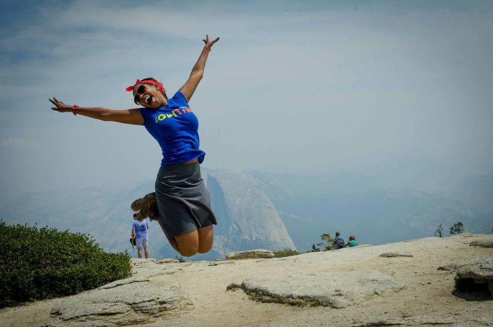 One really happy member of GirlTrek!