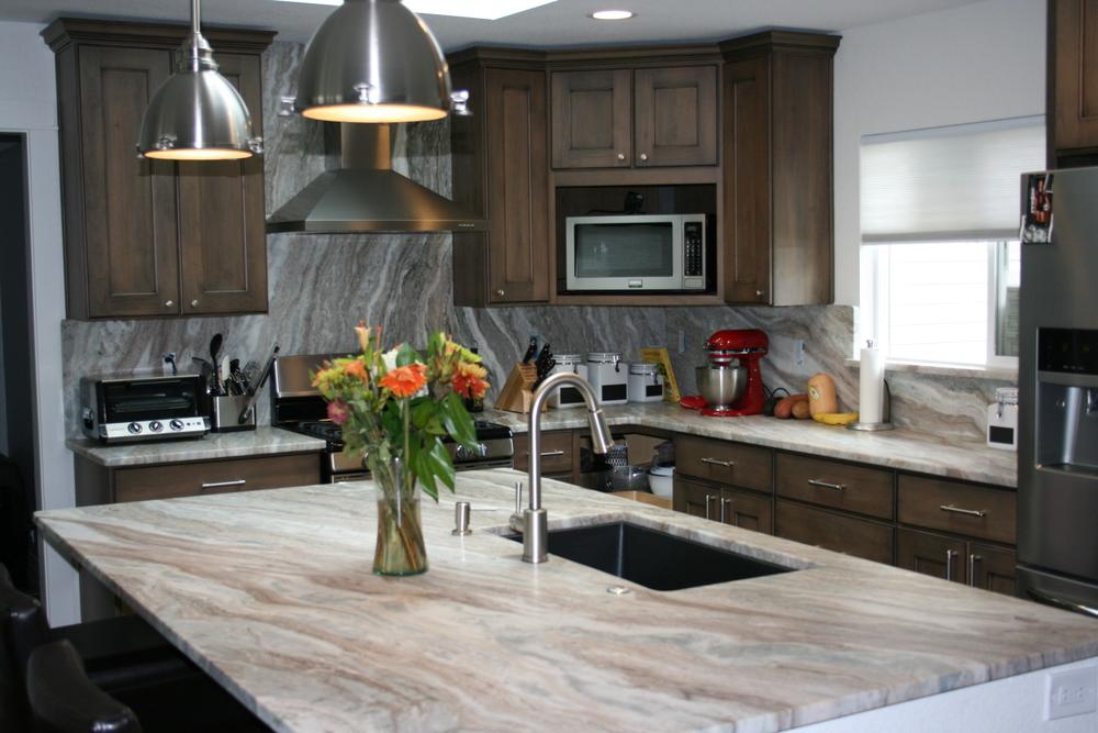 Kitchen Remodel Using Fantasy Brown Granite