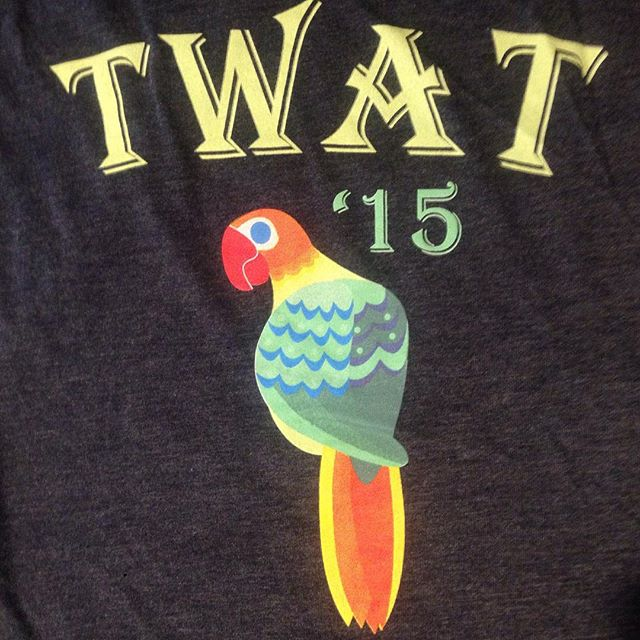sneak peak of this years novelty!!! Can't wait to wear this parrot tank in a few short weeks! #womenanglers #pirateparrot #twat2015 #2015novelty