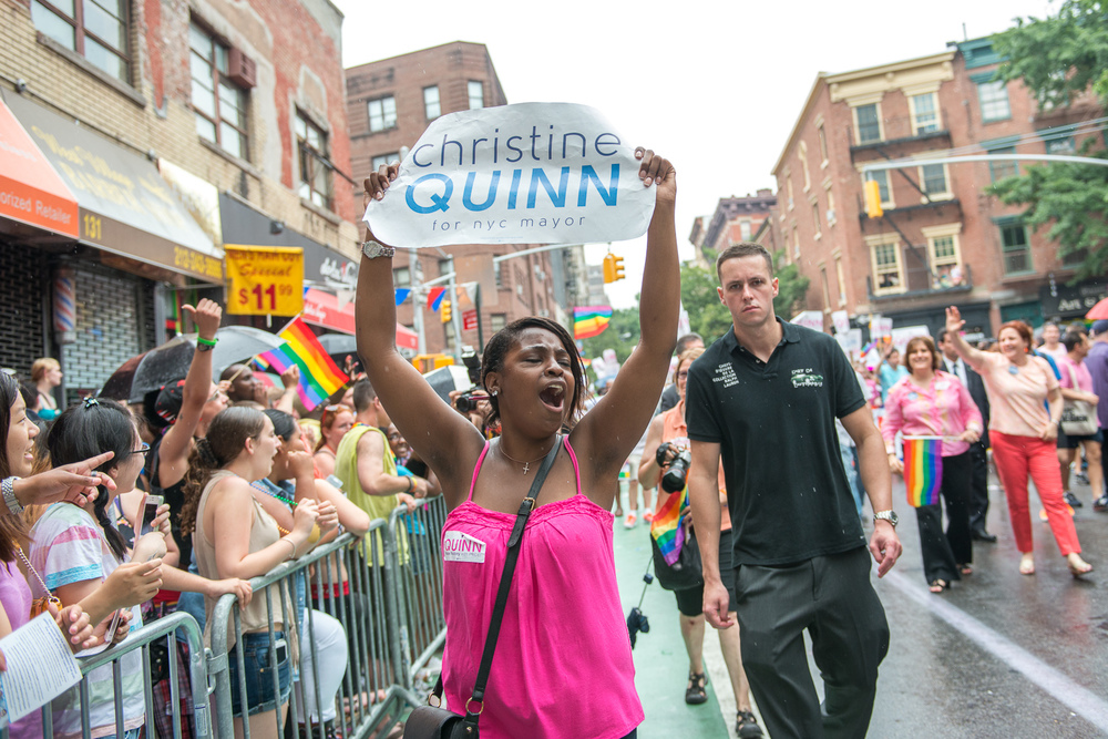Christine Quinn's Mayoral Campaign NYC Pride