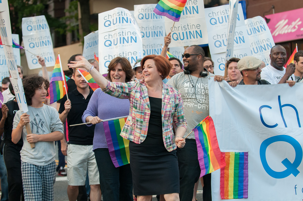 Christine Quinn's Mayoral Campaign Brooklyn Pride