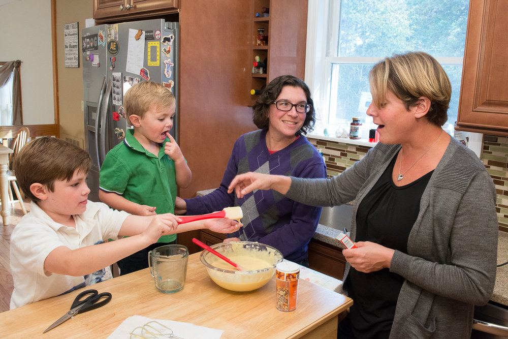October 26, 2014: Cara Marshall, Jennifer Parkinson, James-Henry Marshall Parkinson (JP) (age 6) and John Marshall Parkinson (age 3)