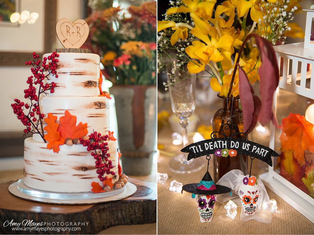 Wedding cake and a halloween gift from a friend