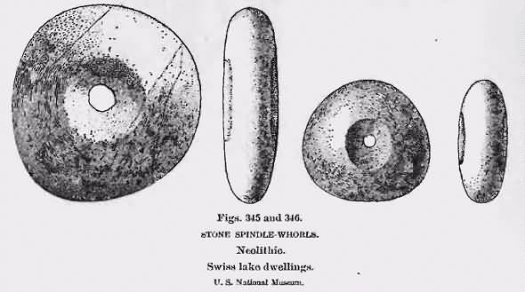 Neolithic stone spindle whorls