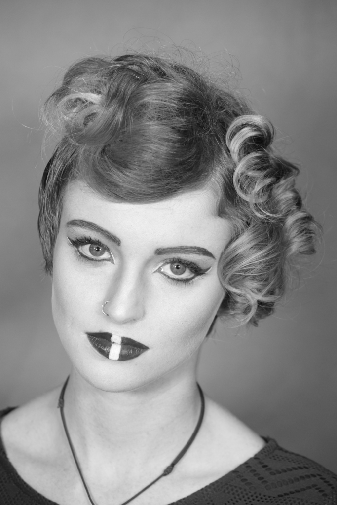 Black and white photography makeup