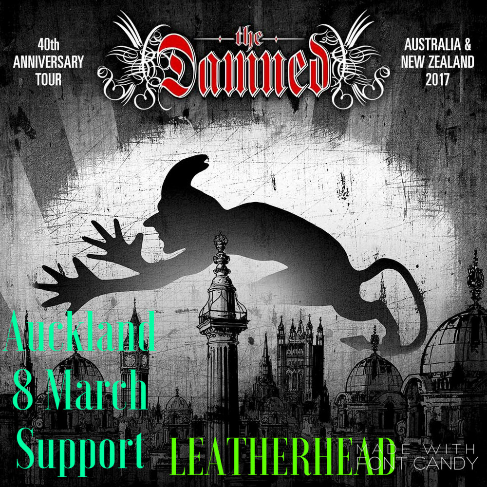 Leatherhead supporting the Damned