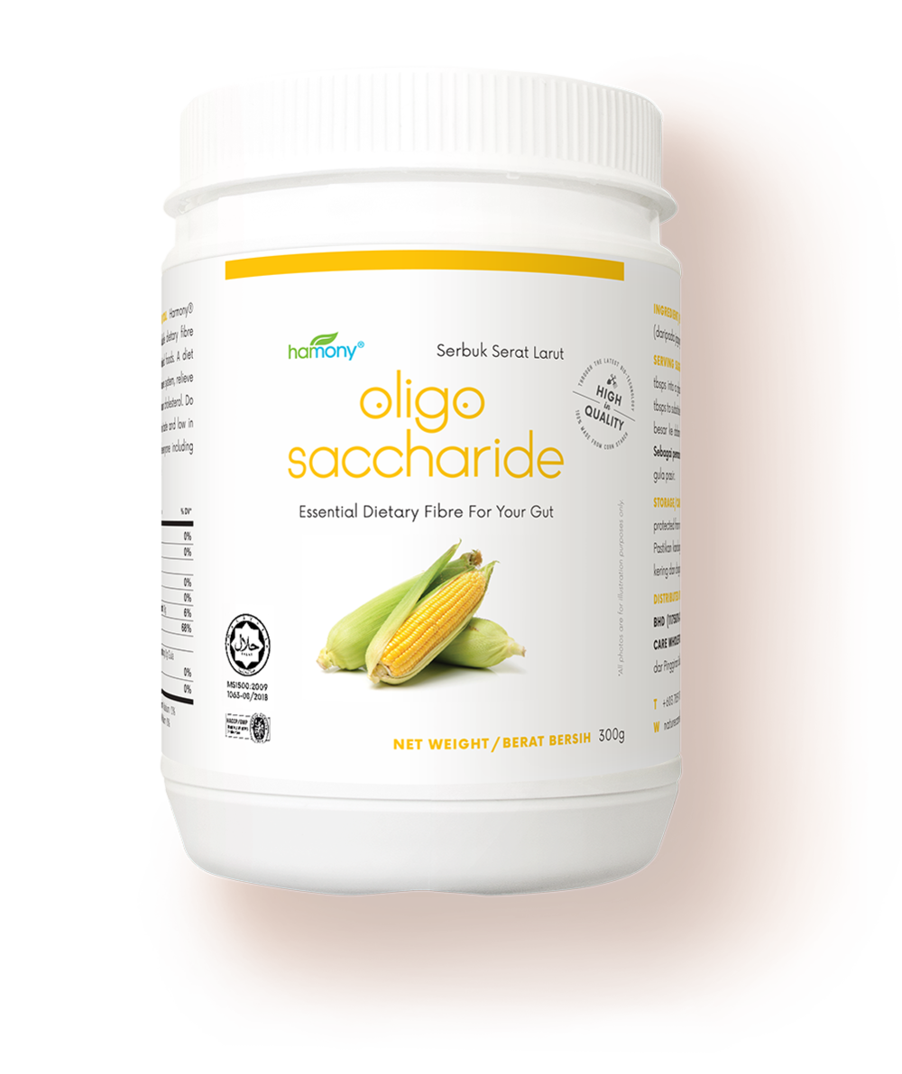 food for the superheroes in your gut. - 300 grams | RM 29.80Made with over 90% purity isomalto-oligosaccharide (IMO).Harmony® Oligosaccharide is ten times more effective than FOS! Classified as super safe by FOSHU, FDA-GRAS and EFSA. Supplements your diet with highly potent food for the friendly bacteria in your body.Contaminant and pathogen free.