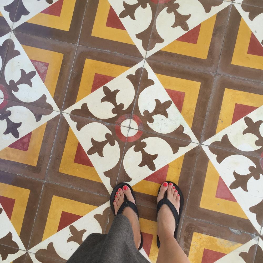 Gorgeous, detailed floors everywhere.