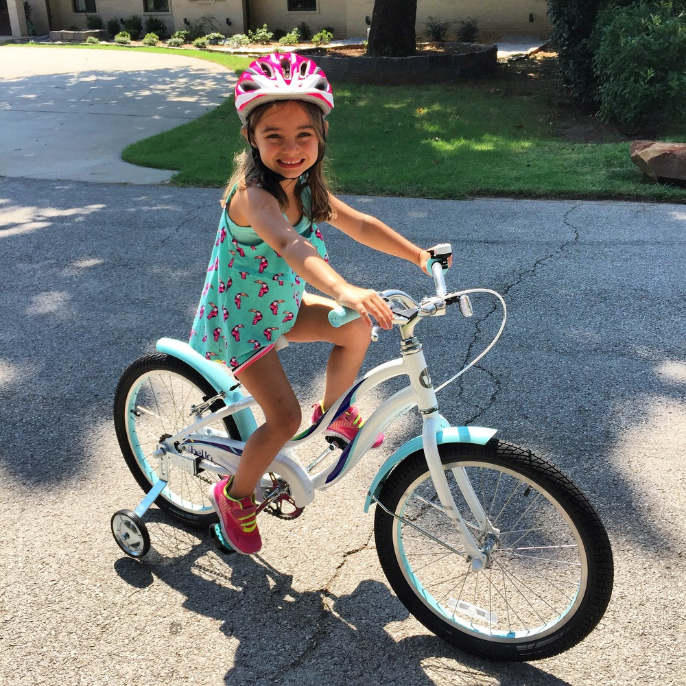 Abigail got a new big girl bike as a surprise present for starting Kindergarten! She picked it out and it is SO her.