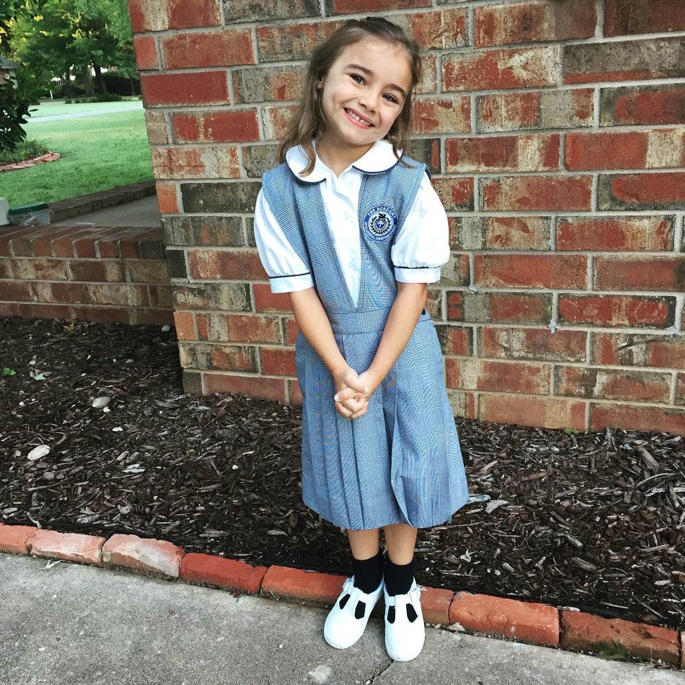 First day of Kindergarten! She was so so so excited.