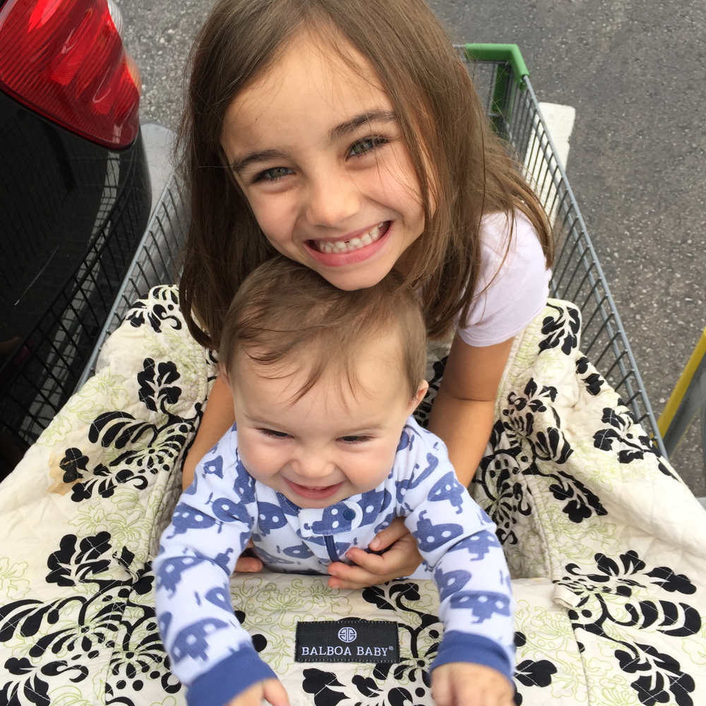 grocery shopping is a CHORE with littles, but at least they are cute!