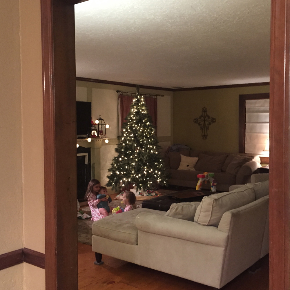 Parker and I felt so blessed the other night to peek in on our little crew, all playing together by the Christmas tree. Such an honor to be their parents.