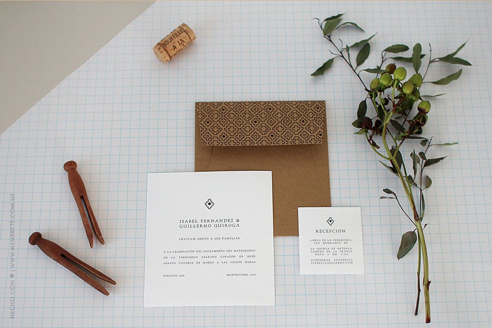Isabel & Guillermo ♥ Membrete | Invitaciones en papel | www.membrete.com.uy
