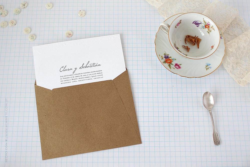 Clara & Sebastián ♥ Membrete | Invitaciones en papel | www.membrete.com.uy