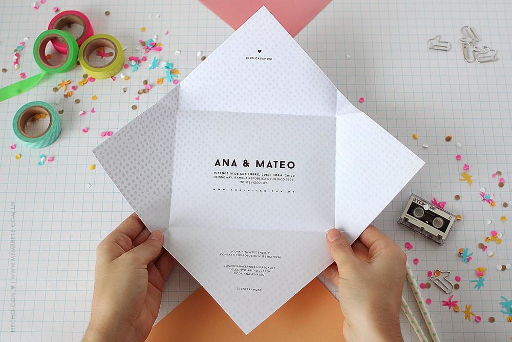 Ana & Mateo ♥ Membrete | Invitaciones en papel | www.membrete.com.uy