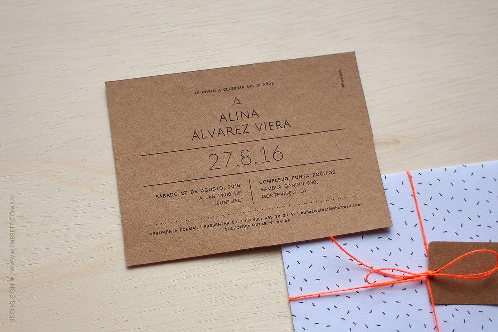 Alina ♪ Fiesta 15 | MEMBRETE | www.membrete.com.uy