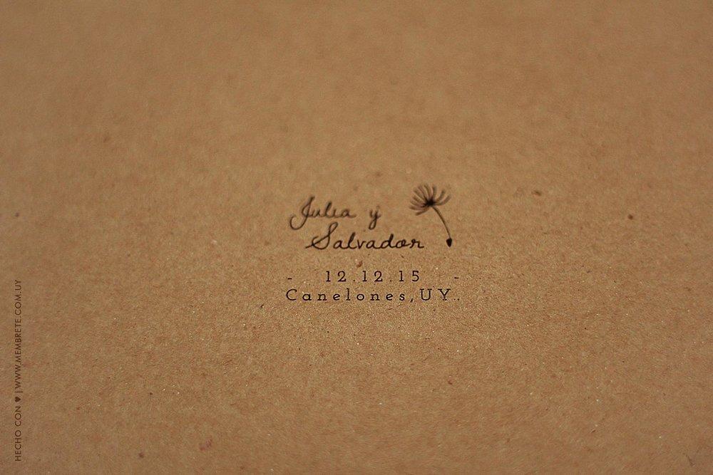 Julia & Salvador ♥ Membrete | Invitaciones en papel | www.membrete.com.uy