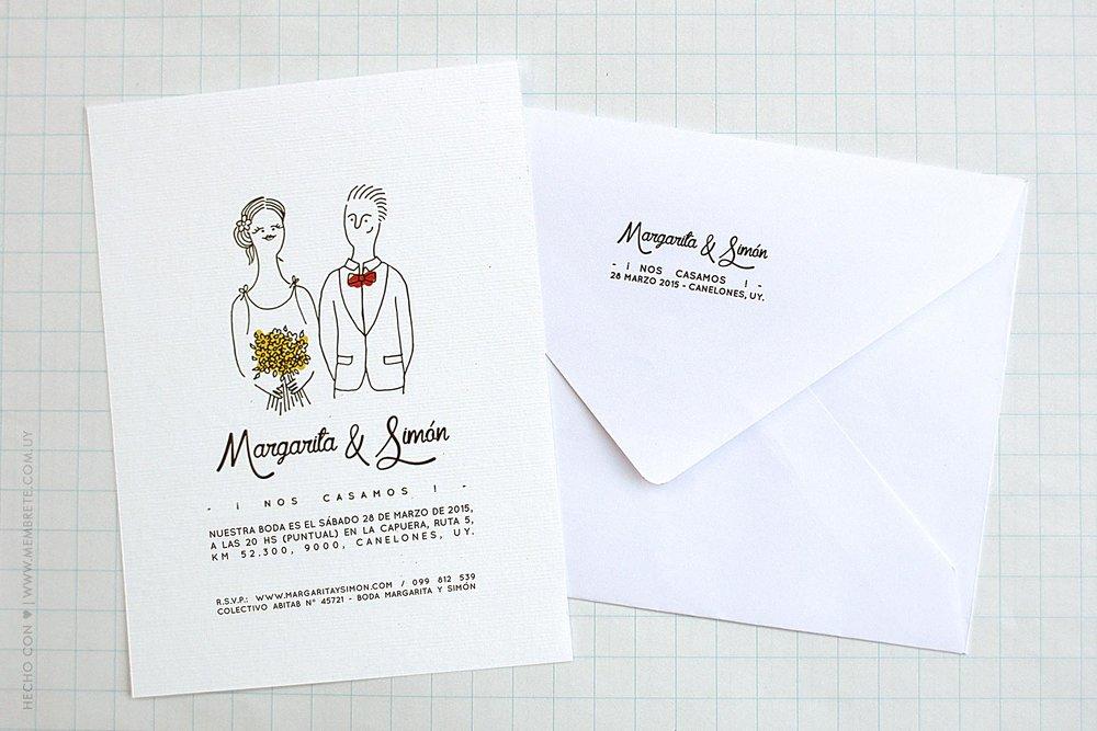 Margarita & Simón ♥ Membrete | Invitaciones en papel | www.membrete.com.uy