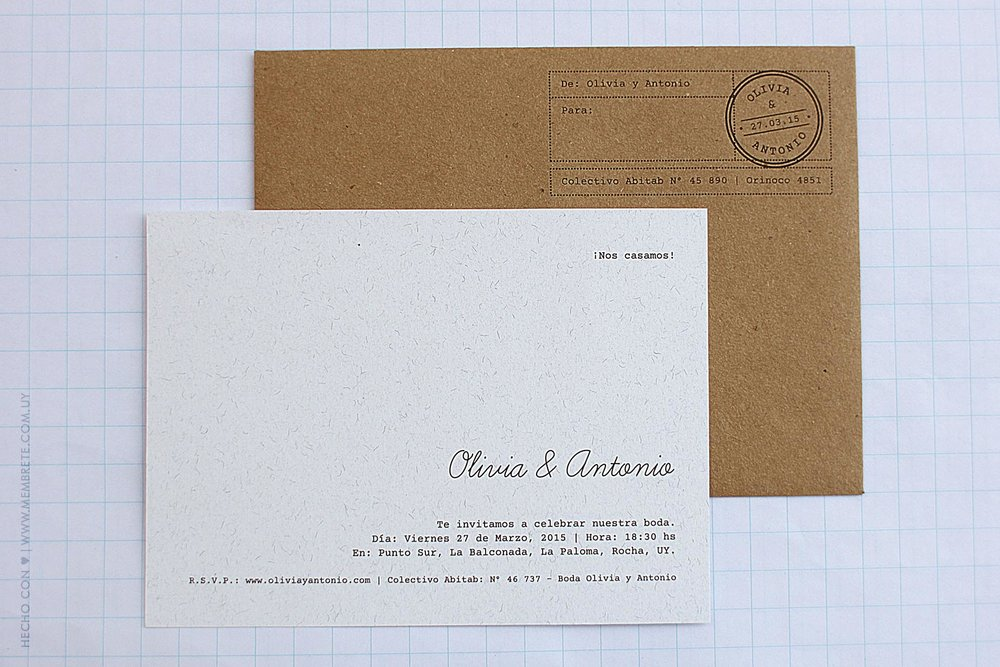 Olivia & Antonio ♥ Membrete | Invitaciones en papel | www.membrete.com.uy