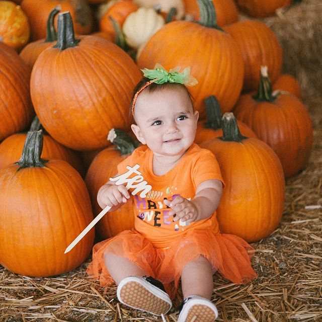 10 months with our little pumpkin. She's a constant reminder that the most grown up thing we can do is not act so grown up. 🎃🍁 @rivvywest
