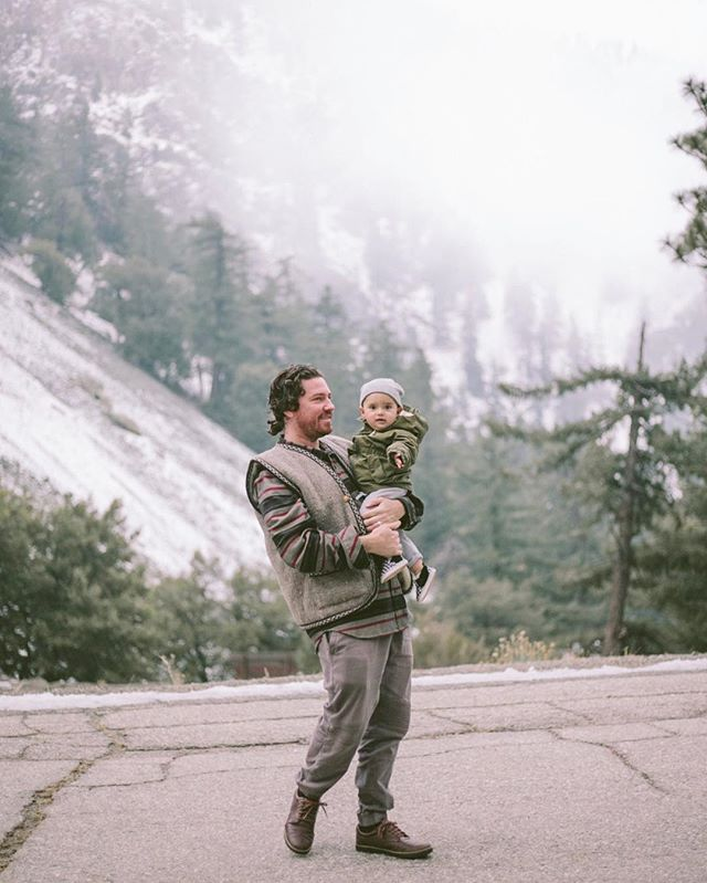 Clogging your feed with this burly man bun and his child. Also, it's snowing in Mt. Baldy!