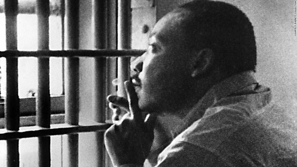 Martin Luther King was incarcerated...