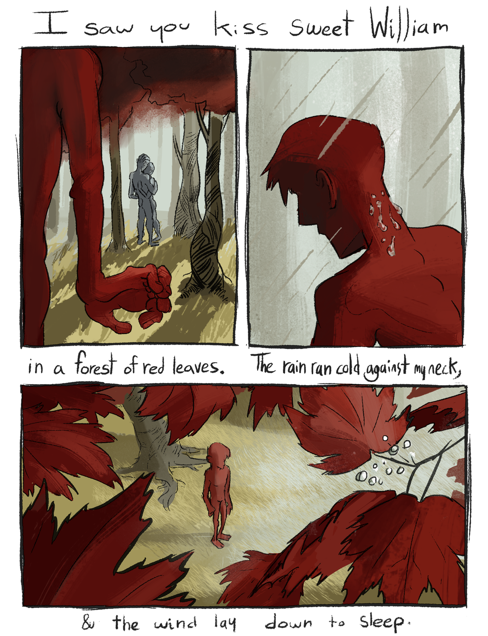 "Comic based on the lyrics to the song ""Sweet William"" by Tuung. 1/?"