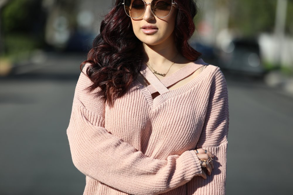 Knit Sweater (similar):  B  ohoo