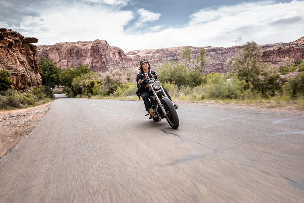 Lanna with Womens Moto Exhibit