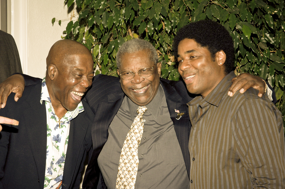 Buddy Guy, B.B. King and Chris Thomas King Los Angeles 2005. Photo by John Heller