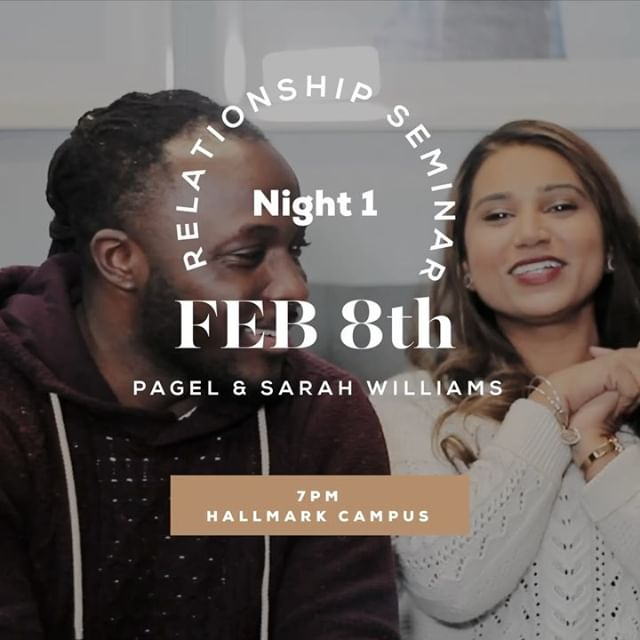 🎉 Friday! Friday! Friday! 🎉 We are so excited for Friday! Our first night of Relationship Seminar is this Friday at 7PM. Kicking off the first night will be @psagew2 & @sarahyaqootwilliams sharing their story with us. Swipe the post to get a little insight of married life so far. We can't wait to see you Friday! Make sure you're registered (link in bio) and bring friends! • • • #bridgetheway #relationshipseminar2019