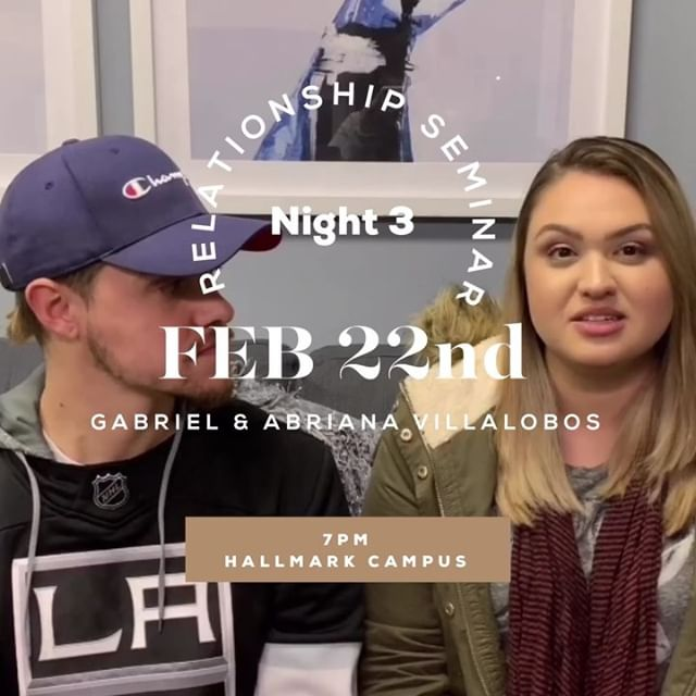 Tonight is the last chance to be apart of Relationship Seminar 2019 and you do not want to miss out! Gabriel and Abriana Villalobos will be here tonight to finish off RS19! Make sure to swipe to hear a little bit from Gabriel & Abriana before tonight. • • • #bridgetheway #relationshipseminar2019