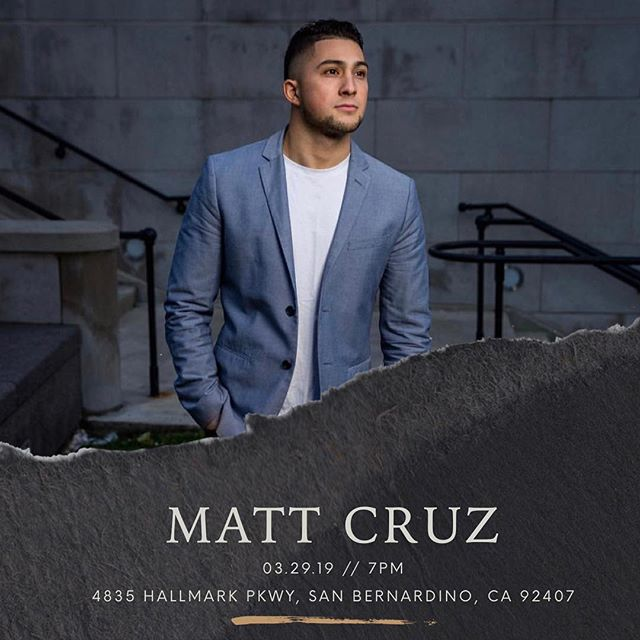 Next Friday we'll have @mattcruz96 at our March Rally! You do not want to miss out on this. We will be at The Way Education Center at 7PM. Invite a friend! #bridgetheway
