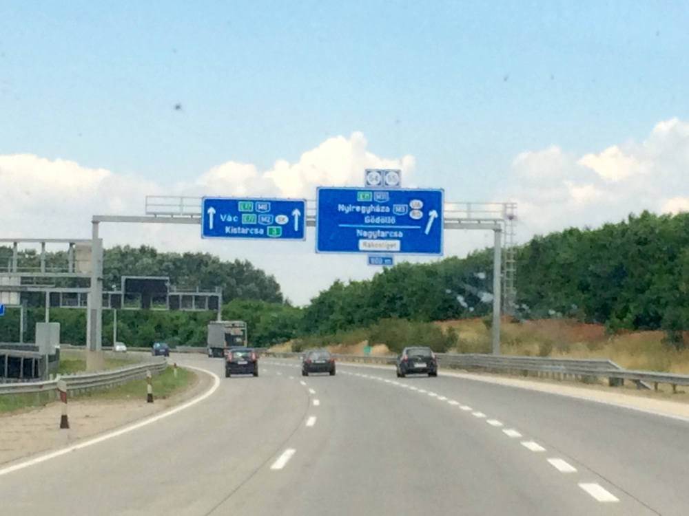 The highway system is quite good in Hungary.  Some of the cars go quite fast in the freeway.