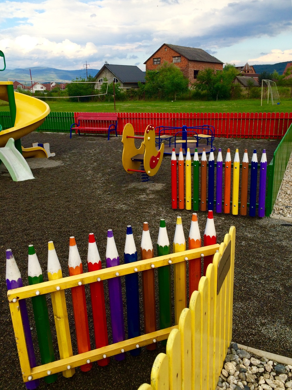 Good to see the colourful playground for children to play.