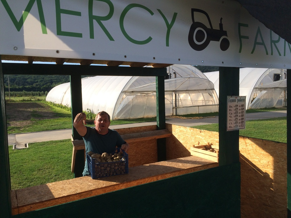 Mercy farm produce stand is in business.